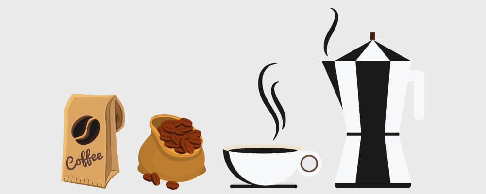 Coffee beans to coffee brew